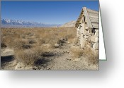 Desolate Landscapes Greeting Cards - Old Rock Cabin At Dolomite Greeting Card by Rich Reid