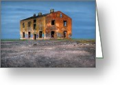 Outskirts Greeting Cards - Old ruined house Greeting Card by Roman Rodionov