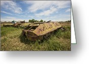 Armored Vehicles Greeting Cards - Old Russian Btr-60 Armored Personnel Greeting Card by Terry Moore