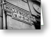Old Street Greeting Cards - Old Rusting Hollywood Road Street Sign On The Wall Of The Former Central Police Compound Hong Kong Greeting Card by Joe Fox