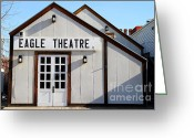 Theatres Greeting Cards - Old Sacramento California . Eagle Theatre . 7D11490 Greeting Card by Wingsdomain Art and Photography