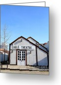 Theatres Greeting Cards - Old Sacramento California . Eagle Theatre . 7D11491 Greeting Card by Wingsdomain Art and Photography