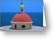 Old San Juan Mixed Media Greeting Cards - Old San Juan Greeting Card by Jerry L Barrett
