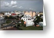 Puerto Rico Greeting Cards - Old San Juan Greeting Card by John Rizzuto