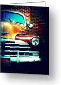 Dana Oliver Greeting Cards - Old Savannah Police Car Greeting Card by Dana Oliver