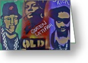 Sit-ins Greeting Cards - Old School Hip Hop Greeting Card by Tony B Conscious