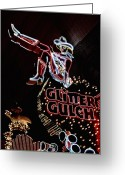 Fremont Street Greeting Cards - Old School Vegas Greeting Card by JAMART Photography