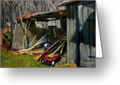 Thor Greeting Cards - Old Shed Berkshires Greeting Card by Thor Wickstrom