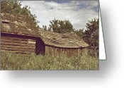 Sheds Greeting Cards - Old Sheds Greeting Card by Odd Jeppesen