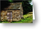 Door Hinges Greeting Cards - Old Sheep Den Greeting Card by Abbie Shores