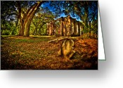 Shelton Greeting Cards - Old Shelton Church Ruins Greeting Card by Mike Wilson
