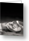 Footwear Greeting Cards - Old shoes Greeting Card by Jane Rix