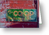 Contry Greeting Cards - Old Sign Greeting Card by Diana Hatcher