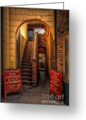 Exit Greeting Cards - Old Signs Greeting Card by Adrian Evans