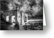 Kettle Greeting Cards - Old Spring House Greeting Card by Scott Norris