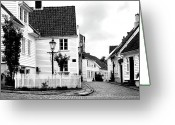 Cobblestones Greeting Cards - Old Stavanger I Greeting Card by Helene Sobol