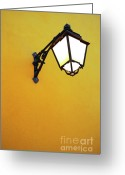 Old Wall Greeting Cards - Old Street Lamp Greeting Card by Carlos Caetano