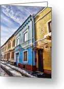 Old Street Greeting Cards - Old streets Greeting Card by Gabriela Insuratelu
