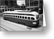 Commission Photo Greeting Cards - Old Style Toronto Transit System Ttc Tram Streetcar Ontario Canada Greeting Card by Joe Fox