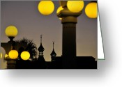 Street Lamps Greeting Cards - Old Tampa Greeting Card by David Lee Thompson