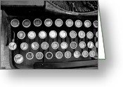 Typewriter Keys Photo Greeting Cards - Old Tech Low Tech Greeting Card by Mark Grayden