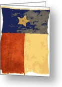 Live Music Greeting Cards - Old Texas Flag Color 16 Greeting Card by Scott Kelley