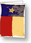 Live Music Greeting Cards - Old Texas Flag Color 6 Greeting Card by Scott Kelley