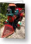 Engines Greeting Cards - Old time train Greeting Card by Garry Gay