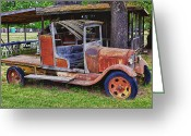 Trucks Greeting Cards - Old timer Greeting Card by Garry Gay