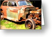 Model A Greeting Cards - Old Timer Greeting Card by Laura Brightwood