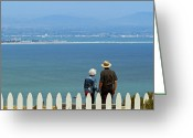 Point Loma Greeting Cards - Old Timers Greeting Card by Methune Hively