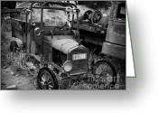 Chrome Grill Greeting Cards - Old Times 2 Greeting Card by Perry Webster