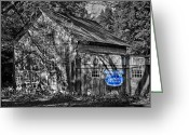 White Barns Greeting Cards - Old Times Greeting Card by Bill  Wakeley
