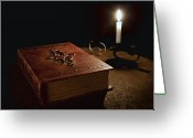 Novel Greeting Cards - Old Tome Still Life II Greeting Card by Tom Mc Nemar