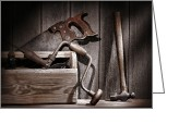 Maintenance Greeting Cards - Old Tools Greeting Card by Olivier Le Queinec