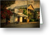 State Flowers Greeting Cards - Old Town -  Key West Florida Greeting Card by Thomas Schoeller