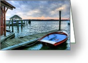 Alexandria Greeting Cards - Old Town Charm Greeting Card by JC Findley