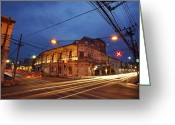 Ancient Architecture Greeting Cards - old town in Phuket Thailand Greeting Card by Setsiri Silapasuwanchai