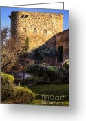 Toledo Greeting Cards - Old Town Walls Toledo Spain Greeting Card by Joan Carroll