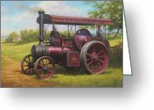 Britain Painting Greeting Cards - Old traction engine. Greeting Card by Mike  Jeffries