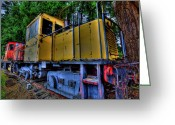 Tacoma Greeting Cards - Old Train Greeting Card by David Patterson