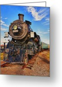 Engines Greeting Cards - Old train Greeting Card by Garry Gay