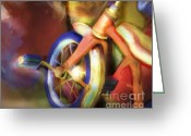 Kid Digital Art Greeting Cards - Old Tricycle Greeting Card by Bob Salo