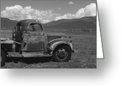 Adrienne Petterson Greeting Cards - Old Truck in Taos NM Greeting Card by Adrienne Petterson