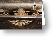 Typewriter Keys Greeting Cards - Old Typer Greeting Card by David Paul Murray