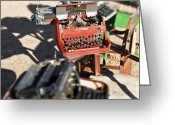 Typewriter Greeting Cards - Old Typewriters Greeting Card by Eddy Joaquim
