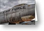 War Plane Greeting Cards - Old United States Air Force Bomber Greeting Card by Gary Whitton