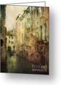Gondola Digital Art Greeting Cards - Old Venice Greeting Card by Julie Palencia