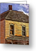 Vintage House Greeting Cards - Old Victorian House Greeting Card by Jill Battaglia