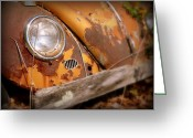 Old Volkswagen Car Greeting Cards - OLD Volkswagen Bug 1 of 2 Greeting Card by Cindy Wright